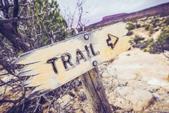 Utah Trail Sign Royalty Free Stock Photos