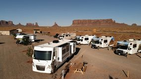 Free Utah, United States - July 9, 2018: RV Park Campground Near Th Royalty Free Stock Image - 124814676