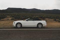 Utah, USA April 21, 2015: Photo of a sixth generation Ford Mustang 2015 desert road stock photos