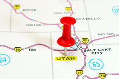 Utah  USA  map Royalty Free Stock Photos