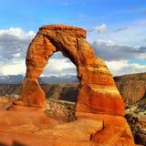 Utah välva sig nationalparken, hisnande landskap Royaltyfri Fotografi