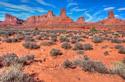 Utah, Valley of the Gods. The Valley of the Gods is a small but beautiful area, sometimes referred to as a mini Monument Valley Royalty Free Stock Photo
