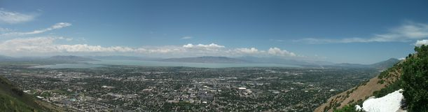 Utah Valley Panoramic Royalty Free Stock Photos