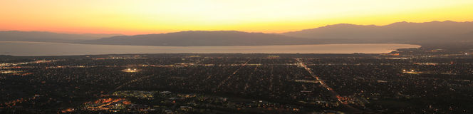 Utah valley sunset panorama. Royalty Free Stock Images