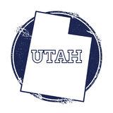Utah vector map. Stock Photography