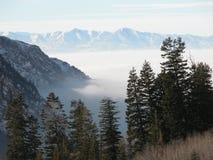 Utah winter Fog Royalty Free Stock Photo