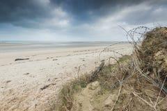 Utah Wyrzucać na brzeg diuny w Normandy Wold wojny Dwa historycznym miejscu zdjęcia stock