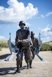 Utah Wyrzucać na brzeg inwazyjnego desantowego pomnika, Normandy, Francja zdjęcie stock