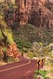 Utah Zion Scenic Road Stock Image