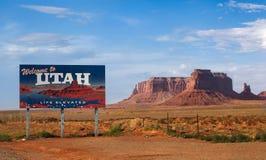 Utah znak powitalny Zdjęcia Royalty Free