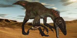 Utahraptor ostrommayorum-3D Dinosaur Royalty Free Stock Photography