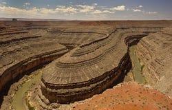 Utahs Goosenecks-Nationalpark lizenzfreies stockbild
