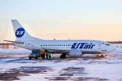 UTair Airlines Boeing 737 Royalty Free Stock Photography