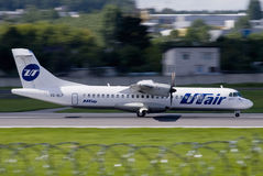 UTair airplane ATR 72 Stock Images