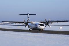 UTair airplane ATR 72.  Royalty Free Stock Images