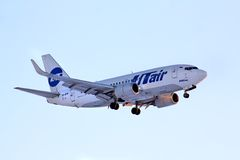 UTair Boeing 737 Obraz Royalty Free