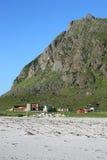 utakleiv фермы s пляжа амбара Стоковая Фотография