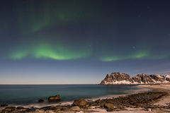 Utakleiv Beach, Lofoten Islands, Norway Stock Image