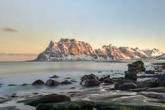 Utakleiv Beach, Lofoten Islands, Norway Royalty Free Stock Images