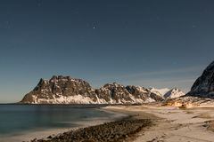 Utakleiv Beach, Lofoten Islands, Norway Royalty Free Stock Photos