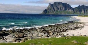 Utakleiv, Lofoten, Noruega imagem de stock royalty free
