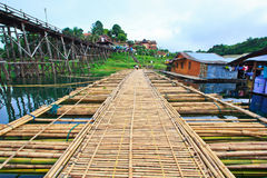 Utamanusorn bridge or Morn bridge, Thailand Stock Image