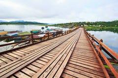Utamanusorn bridge or Morn bridge, Thailand Stock Photo