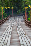 Utamanusorn bridge or Morn bridge, Thailand Stock Photo