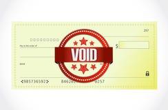 Utan laga kraft design för illustration för bankkontroll Arkivbild