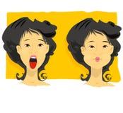 utandas inhalerar Fotografering för Bildbyråer