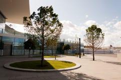 Utanför Gibraltar den internationella flygplatsen arkivfoton