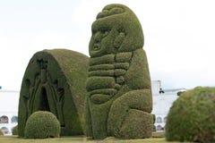 Utarbetad topiary i den Tulcan Ecuador kyrkogården Arkivfoton