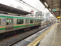 Utbilda att vänta på passageraren på den Ueno stationen Royaltyfria Foton