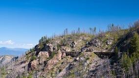 Utbilda bocken på kokkärldaljärnvägen nära Kelowna, Kanada Arkivfoton