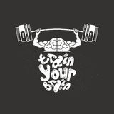 Utbilda din hjärna Arkivbild