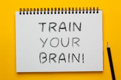 Utbilda din hj?rna fotografering för bildbyråer