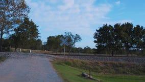 Utbilda spår längs den historiska Route66en i Oklahoma lager videofilmer