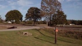 Utbilda spår längs den historiska Route 66 i Oklahoma lager videofilmer