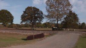 Utbilda spår längs den historiska Route 66 i Oklahoma arkivfilmer
