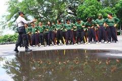 Utbildning av självförsvartekniker för skyddschefer Royaltyfria Foton