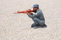 utbildning för 3 afghan polisar s Royaltyfria Bilder