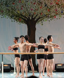 Utbildning för barre-grundläggande partiet för konsert för avläggande av examen för grupp för dansutbildningskurs-öst Kina Jiaoto Arkivfoto