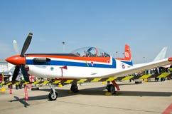 utbildning för flygplan pc9 Arkivfoton