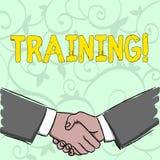 Utbildning för handskrifttexthandstil Begrepp som betyder organiserad aktivitet för att framkalla expertisuppsättningen av uppvis stock illustrationer