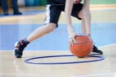 Utbildning för leken av basket Fotografering för Bildbyråer