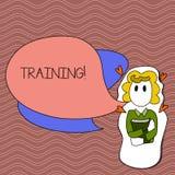 Utbildning för ordhandstiltext Affärsidé för att organiserad aktivitet ska framkalla expertisuppsättningen av uppvisning av flick stock illustrationer
