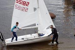 Utbildning i segling Royaltyfria Bilder