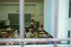 Utbildning i Trinidad, Kuba Royaltyfria Bilder