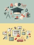 Utbildning Infographics Royaltyfri Bild
