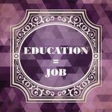 Utbildning - Job Concept. Tappningdesign. Arkivfoto